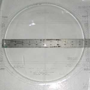 Sample lens manufactured by Lucid Glass to Ottenheimer's specifications.